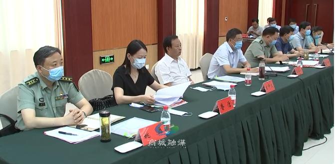 省双拥模范县创建调研考评组到商城县检查指导工作